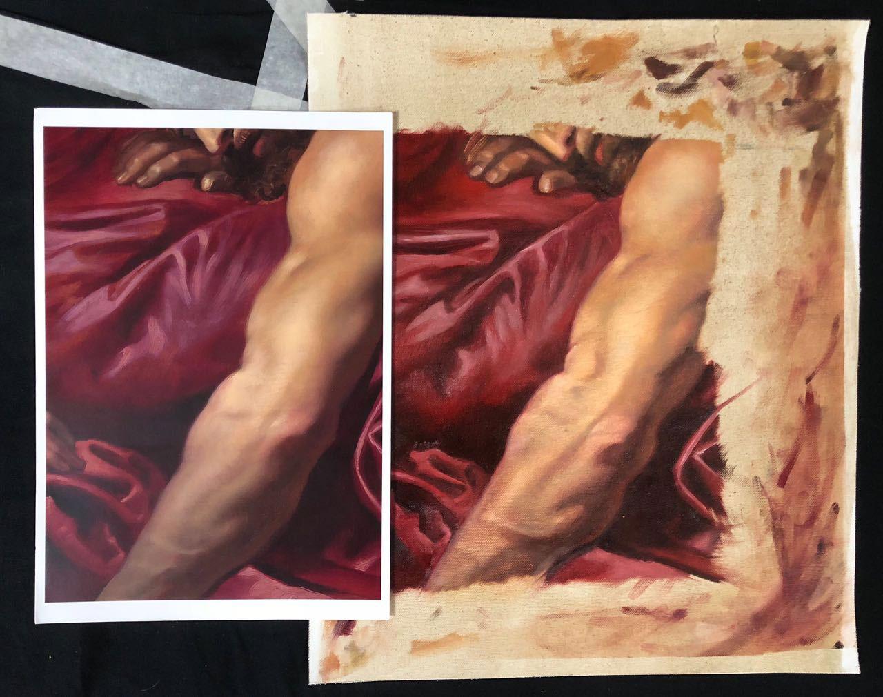 academy realistische oelmalerei 01 - Realistic oil painting