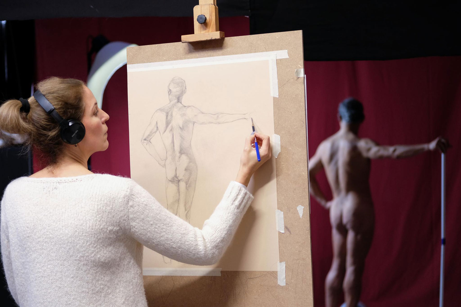 academy aktkurs zeichnung 01 - Life drawing and painting