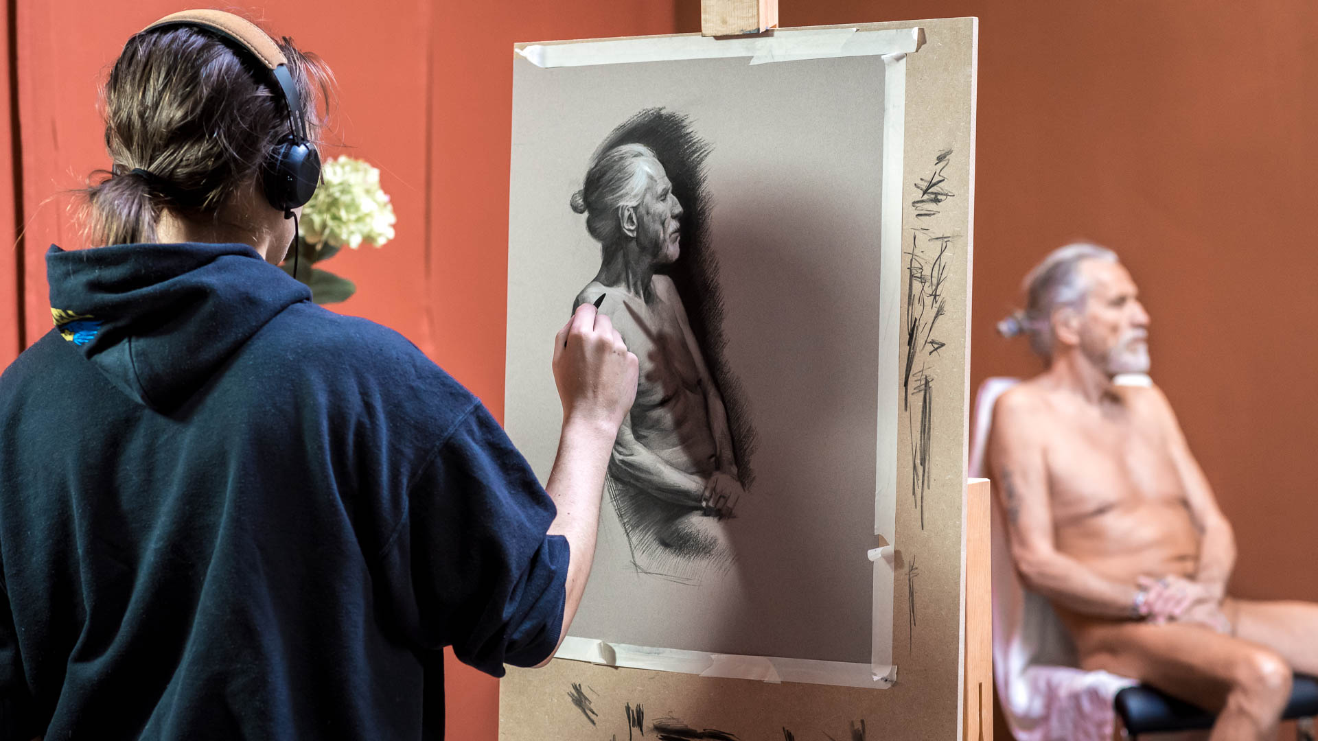 academy lerne akt zeichnen malen 01 - Learn life drawing and painting