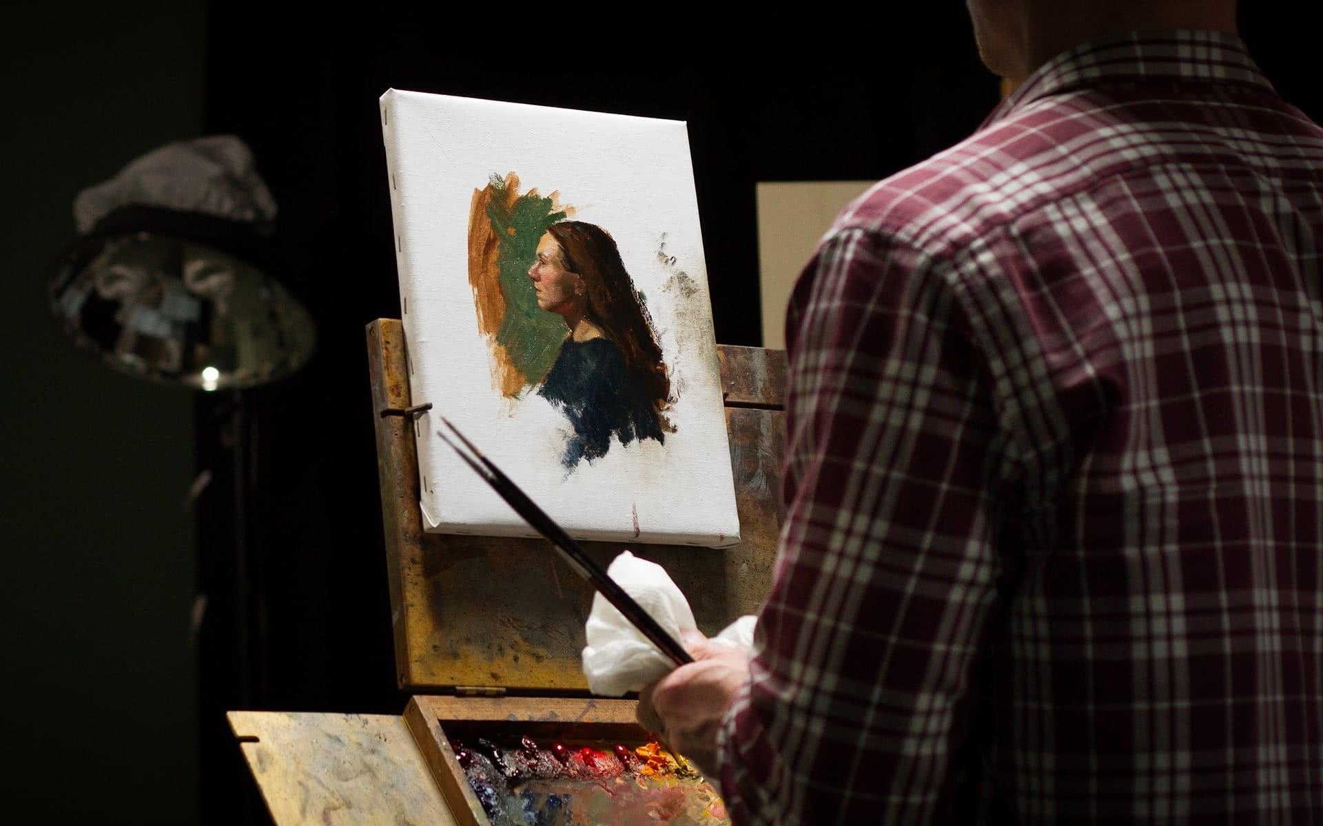academy portrait malen oel 01 - Is art still considered a profession nowadays?