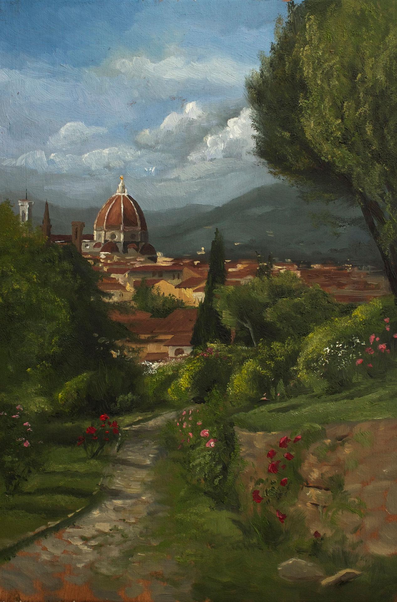 Sahra Becherer Plein air Giardino delle Rose Firenze 052015 - Sahra Becherer (Teacher)